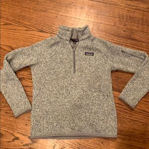Better Sweater 1/4-Zip Fleece Birch White Sz S